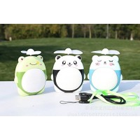 Wesource Cartoon Mini Portable Fan USB Charging Fan with LED Light-Green Frog-Blue Bear - B07G79JQC6