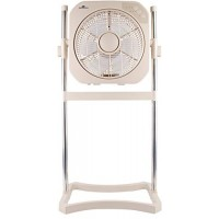 "Air Innovations 12"" Swirl Cool Stand & Tabletop Fan w/ Cord Wrap (Beige) - B074KKM6Y9"