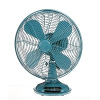 "CC Home Furnishings 16.5"" Peacock Teal Euro Retro Adjustable 3 Speed Table Top Fan - B07DP8QXZX"