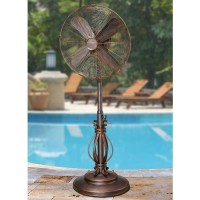 "CC Home Furnishings 50"" Extravagant Prestigious Adjustable Oscillating Outdoor Standing Fan - B007NNEFGM"