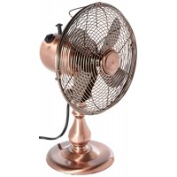 DecoBREEZE Oscillating Table Fan 3 Speed Air Circulator Fan  10 In  Brushed Copper - B01N8S31B9