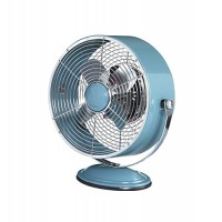 DecoBREEZE Retro Fan Air Circulator Table Fan with Full Pivot Fan Head  9 In  Blue - B01N0DW0SP