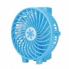 Livoty Portable Rechargeable Fan Air Cooler Mini Operated Hand Held USB 18650 Battery (Blue) - B073SMM8TW