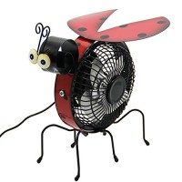 Maggift Table Fan  Mini USB Desk Fan  Metal Beatles Design  Quiet Operation  High Compatibility (Black) - B07CYHBKX3