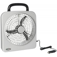 "RoadPro RP8000 10"" Indoor/Outdoor Dual Power Fan - B00KJGRLJI"