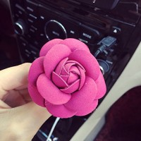cyclamen9 Aromatherapy Car Diffuse Rose Vent Clip Essential Oil Diffuser for Car Air Freshener(6 cm Rose Red) - B07F5DCGNX