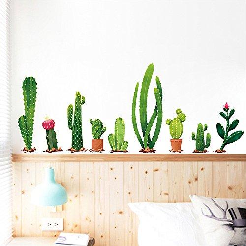 Rumas 9Pcs Cactus Wall Decals for Living Room Bedroom - Art DIY Wall  Stickers for Kids Room Nursery Kindergarten - Bathroom Decor - Office Decor  - ...