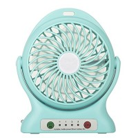 Beanhark Portable Fan  Mini Usb Rechargeable Fan with 2000mAh Power Bank and Flashlight Cooler Cooling Desktop Fan Mini.for Traveling Fishing Camping Hiking Backpacking Baby Stroller (Blue) - B071NM51G9