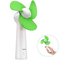 BicycleStore Personal Handheld Fan  Portable Mini Pocket Fan with Foam Blades  Small Quiet Desk Fan Powered by USB or Rechargeable Battery for Office  Table  Travel  Camping - B07CWLW9T5