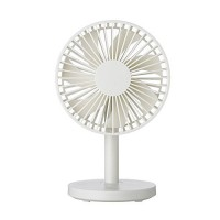 Drimran Small Desk Fan USB  5 Inch Mini Table Desktop Fan Powerful w/USB Powered  Strong 3 Speed Super Quiet  Portable Personal Electric Fan Silent for Office Bedroom Study Dorm Home Cooling (White) - B07DNF9CVT