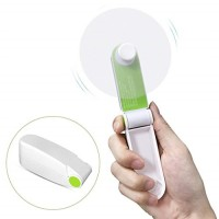 Liping Mini Portable USB Handheld Personal Fans Bladeless Fan Outdoor Home and Travel Computer Laptop Low Power Consumption (Green) - B07FY5VJVB