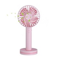 Mini Handheld Fan Portable Personal Desktop Cooling Fan Desk Macaron USB Rechargeable Fan with Gust Mode and Magnetic Mirror Base for Office Outdoor Household Traveling (3 Speed Pink) - B07BP3G2V5