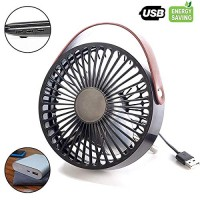 Mini USB Desk Fan Personal Table Fan Lower Noisy (black) - B071LMLBS3