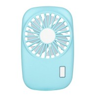 NewSilkRoad Mini Handy Camera Style Portable USB Rechargeable Cooling Fan 7 blades  2 Speeds of Air Force Adjustable (blue) - B07FR1WM4K