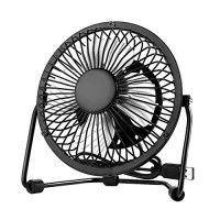 Usb Mini Desktop Fan - Table Small Fan Portable Adjustable Compatible With Computer Laptops Power banks Fans Quiet Cooling For Office And Home 4 Inch Black - B071HGTNJ2
