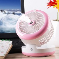 KTYX Spray Humidity Cooler Fan Mini USB Rechargeable Portable Small Air Conditioner fan - B07G9XMQ7H