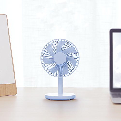 KTYX USB Mini Fan Mute Office Desktop Fan Bed Fan fan (Color : Blue) - B07G9VT68P