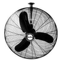 Air King 9374 24-Inch Industrial Grade Oscillating Ceiling Mount Fan  1/3-Horsepower  Black Finish - B00155Y1PY