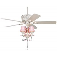 Casa Deville Pretty in Pink Pull Chain Ceiling Fan - B01M7M6RM4