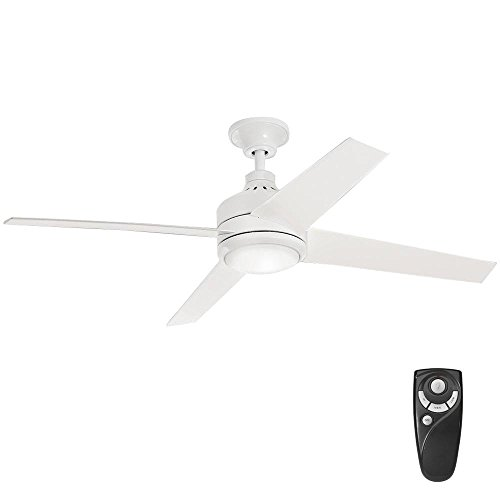 Home Decorators Collection Mercer 52 in. Integrated LED Indoor White Ceiling Fan - B077ZDMPGP