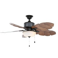 Home Decorators Collection Palm Cove 52 in. Natural Iron Ceiling Fan - B00L3ERHE4