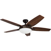 Honeywell Carmel 48-Inch Ceiling Fan with Integrated Light Kit and Remote Control  Five Reversible Cimarron/Ironwood Blades  Oil-Rubbed Bronze - B00KGKF108