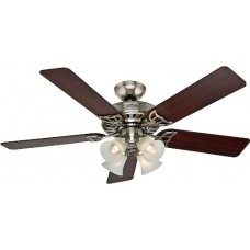 Hunter 53064 Studio Series 52-Inch Ceiling Fan with Five Cherry/Maple Blades and Light Kit  Brushed Nickel - B00ESVXVBC