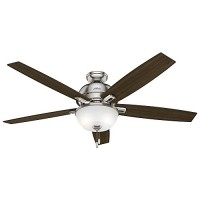 "Hunter 54172 60"" Donegan Ceiling Fan with Light  Brushed Nickel - B01CDFZM0W"