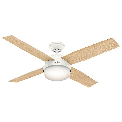 "Hunter 59217 52"" Dempsey Ceiling Fan with Light & Remote  Fresh White - B01CDFZSQU"