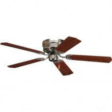 Progress Lighting P2525-09 52-Inch Hugger 5 Blade Fan with 3-Speed Reversible Motor with Reversible Cherry or Natural Cherry Blades  Brushed Nickel - B001QVCQF4