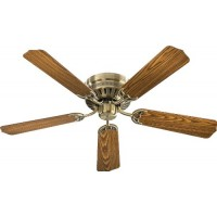 "Quorum 11425-4 Custom Hugger - 42"" Ceiling Fan  Antique Brass Finish - B00MOJCRO2"