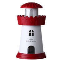 Bayin Lighthouse Cool Mist Humidifier with No Noise  LED Desktop Nightlight  Auto Safety Shut-Off Humidifier for Home/Bedroom/Car/Office(Red) - B075J957F2