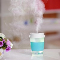 Coerni 300ml Cute Milk Cups USB LED Glowing Humidifier Essential Oil Diffuser for Car  Office  Home (Blue) - B075S1FD1F