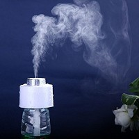 Enshey Ultrasonic USB Humidifier Mini Air Diffuser Cool Mist Portable Aroma Humidifier with Water Bottles Car Air Purifier Steam Diffuser Travel Humidifying Device for Travel Office Car Baby Bedroom - B071RP3WW6