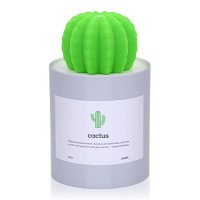 GZMAY USB Cool Mist Humidifier Mini Size Cactus Humidifier Ultra-Quiet Operation for Office Home Bedroom Baby Room 280ML 50ml/h(Grey) - B07CG6VJSJ