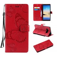 Galaxy Note 8 Case Galaxy Note 8 Wallet Case Note 8 Case with Card Holders Folio Flip PU Leather Butterfly Case Cover with Card Slots Kickstand Phone Case for Samsung Galaxy Note 8 Red - B07G6PSN57