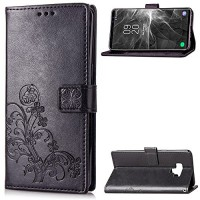 HAOTP Galaxy Note 9 Case Samsung Note 9 Case PU Leather Case Emboss Luxury Floral Lucky Flowers Premium Wallet Flip Protective Case Cover Card Slots KickStand Samsung Galaxy Note 9 Black - B07GC34KL3
