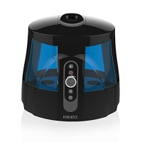 Homedics TotalComfort Warm & Cool Mist Ultrasonic Humidifier | 1.7 Gallon Tank  80 Hour Runtime  Nightlight  Dual Tanks | Clean Tank Technology  BONUS 2 DEMINERALIZATION CARTRIDGES  Whisper-Quiet - B00Z6D13W0