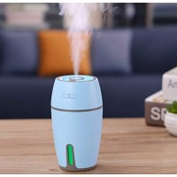 Qiotiy USB Cool Mist Humidifier  Mini Cute Size Humidifier for Bedroom Home Office Car 300ml 50ml/h with Timed auto Shutdown (Blue) - B07GRWNRK5