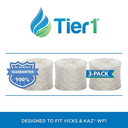 Tier1 Kaz WF1 & Emerson HDF-1 Comparable Humidifier Wick Filter Replacement for Models 885  3000 3 Pack - B01ANZC0FO