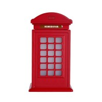 millet16zjh Retro 300ml Mini Telephone Booth USB Auto Power Off Home Humidifier Air Purifier - Red - B07FSFRS6G
