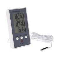 LCD Digital Temperature Hygrometer  LAFEINA Electronic Humidity Sensor Thermometer  Indoor/Outdoor Temperature Humidity Measurer - B073XLPGBG