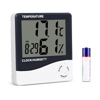 Mengshen Digital Hygrometer Thermometer  Indoor Temperature Humidity Gauge Meter for Home/Office/ Greenhouse/Basement/ Car/Babyroom  TH02 - B07BTGCCKH