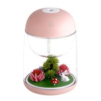 Micro Oil Diffuser Cool Mist Humidifier  House Room Mini Air Humidifiers for Baby Bedroom - Various Night Lights (Pink) - B076V8PGN3