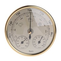 Padory Wall Mounted Household Barometer Thermometer Hygrometer Weather Station Hanging - B07BDG3RG1