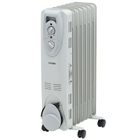 1500-Watt Electric Oil-Filled Radiant Portable Heater - Grey - B00P4S3Y92