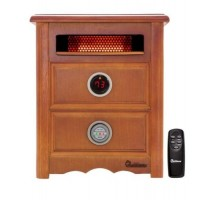 Dr Infrared Heater DR999  1500W  Advanced Dual Heating System with Nightstand Design  Furniture-Grade Cabinet  Remote Control - B00A3T9BHQ