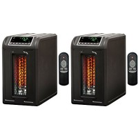 Lifesmart 3 Element 1500W Quartz Infrared Electric Portable Space Heaters (Pair) - B01M0VFQ3M
