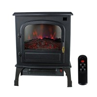 Warm Living 1500W Electric Infrared Deluxe Home Stove Fireplace Heater  Black - B0166XF7FW