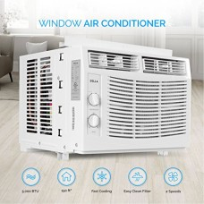 DELLA 5 000 BTU Window-Mounted Air Conditioner AC Unit Cool 115-Volt 150 SQ FT Energy Saving with Mechanical Controls - B07D8GN1Z1